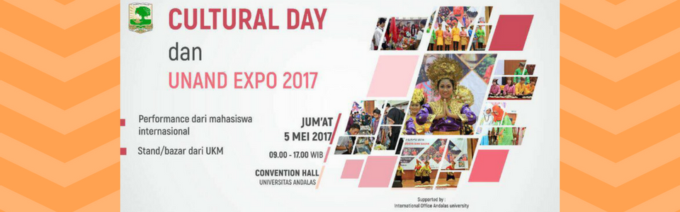Performance dari Mahasiswa Internasional, Stand/bazar dari UKM, Jumat 5 Mei 2017- Convention Hall Universitas Andalas