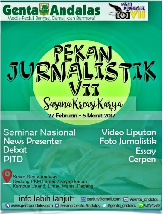 Journalism Week VII, Genta Andalas Conduct Several Competitions